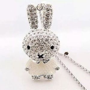 Jewelry - BUNNY LONG PENDANT CRYSTAL NECKLACE